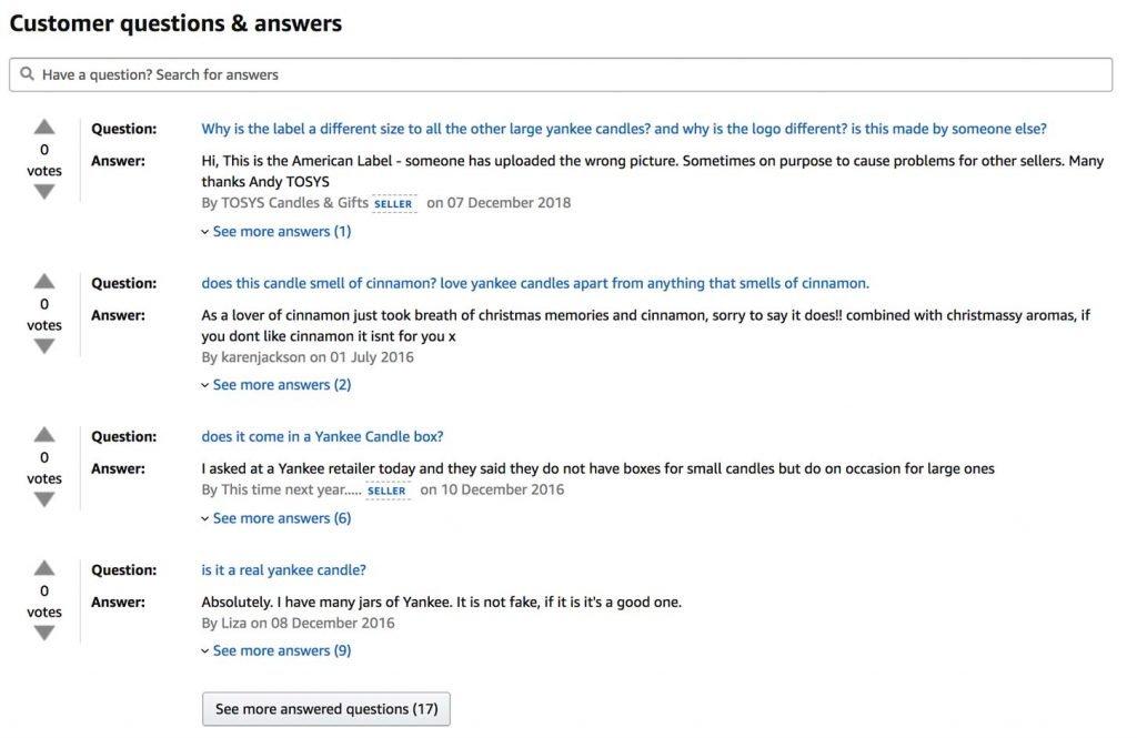 The Amazon FAQ Section