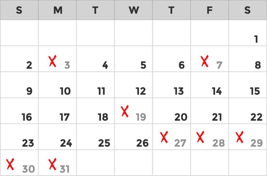 Promotion Calendar Example